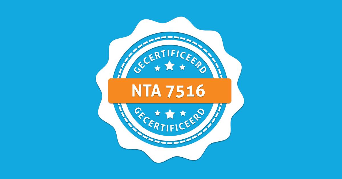 NTA 7516 gecertificeerd